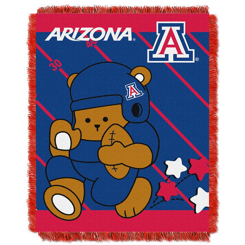 Arizona Wildcats Ncaa Triple Woven Jacquard Throw (fullback Baby Series) (36x48)