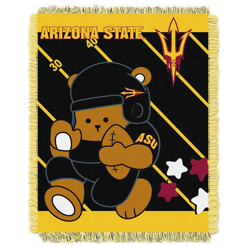 Arizona State Sun Devils Ncaa Triple Woven Jacquard Throw (fullback Baby Series) (36x48)
