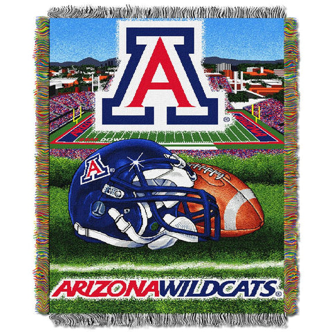 Arizona Wildcats Ncaa Woven Tapestry Throw (home Field Advantage) (48x60)