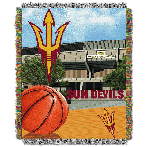 Arizona State Sun Devils Ncaa Woven Tapestry Throw (home Field Advantage) (48x60)