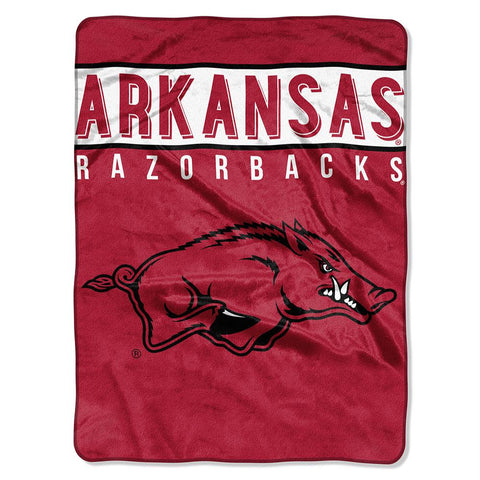 Arkansas Razorbacks Ncaa Micro Raschel Blanket (basic Series) (80x60)