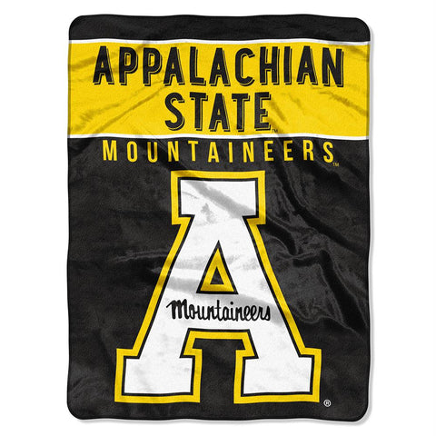 Appalachian State Mountaineers Ncaa Micro Raschel Blanket (basic Series) (80x60)