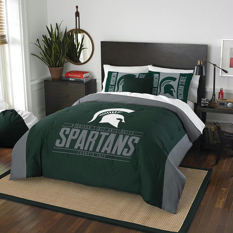 Michigan State Spartans Ncaa King Comforter Set (modern Take Series) (102 X 86)