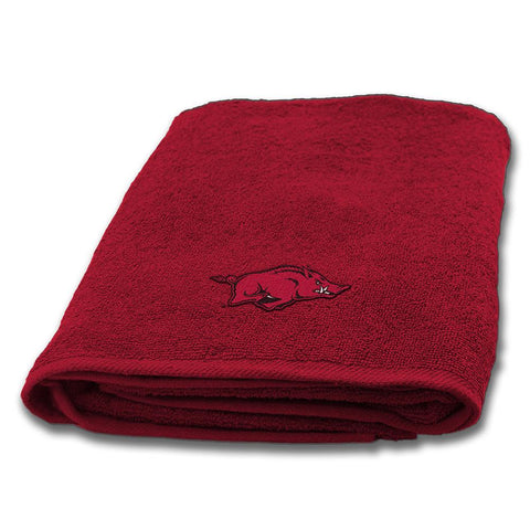Arkansas Razorbacks Ncaa Applique Bath Towel