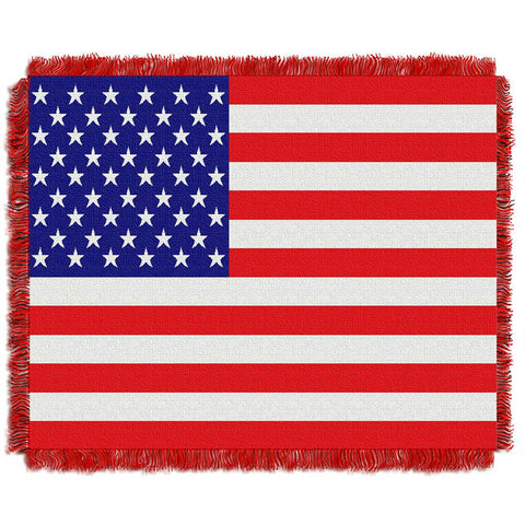 American Flag Triple Woven Jacquard Throw (48x60)