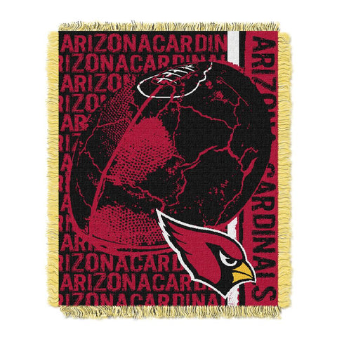 Arizona Cardinals Nfl Triple Woven Jacquard Throw (double Play) (48x60)