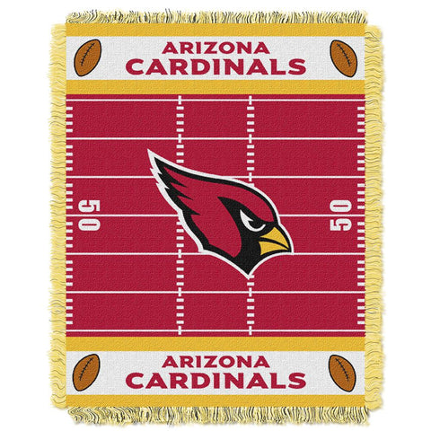 Arizona Cardinals Nfl Triple Woven Jacquard Throw (field Baby Series) (36x48)
