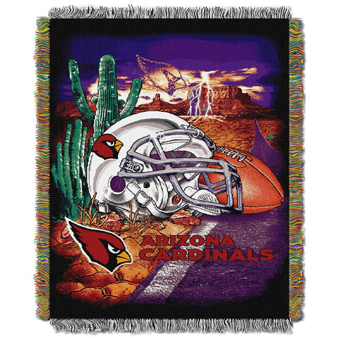 Arizona Cardinals Nfl Woven Tapestry Throw (home Field Advantage) (48x60)