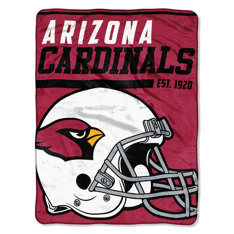 Arizona Cardinals Nfl Micro Raschel Blanket (40-yard Dash Series) (46in X 60in)