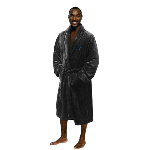 Carolina Panthers Nfl Men's Silk Touch Bath Robe (l-xl)