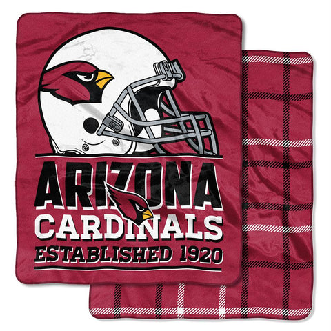 Arizona Cardinals Nfl Double Sided Cloud Throw (home Field Series) (50inx60in)