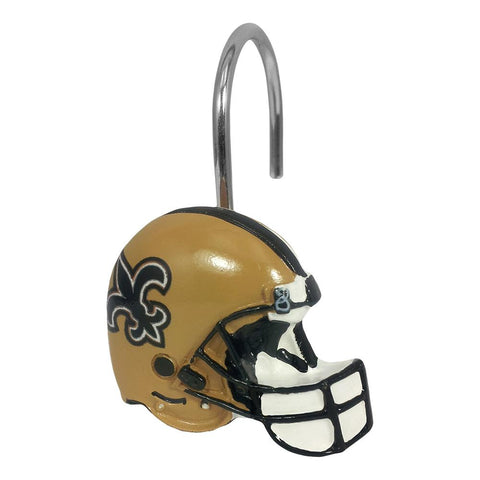 New Orleans Saints Nfl Shower Curtain Rings