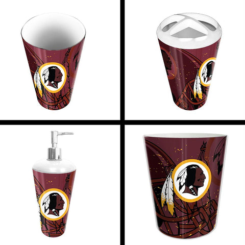 Washington Redskins Nfl 4 Piece Bathroom Decorative Set (scatter Series)