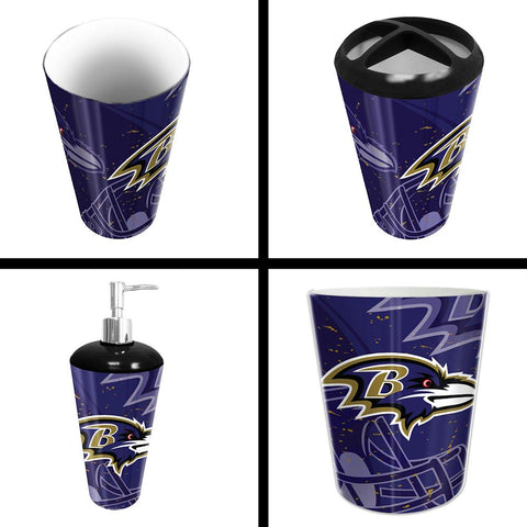 Baltimore Ravens Nfl 4 Piece Bathroom Decorative Set (scatter Series)