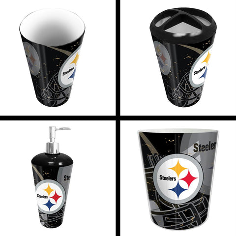 Pittsburgh Steelers Nfl 4 Piece Bathroom Decorative Set (scatter Series)
