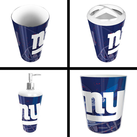 New York Giants Nfl 4 Piece Bathroom Decorative Set (scatter Series)