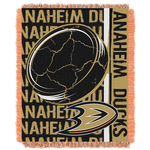 Anaheim Ducks Nhl Triple Woven Jacquard Throw (double Play Series) (48x60)