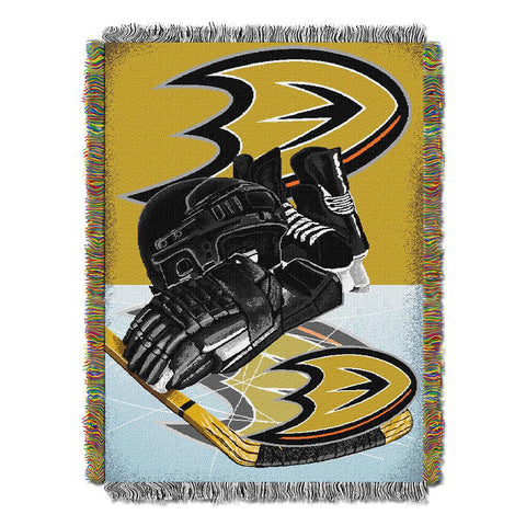 Anaheim Ducks Nhl Woven Tapestry Throw (home Ice Advantage) (48inx60in)