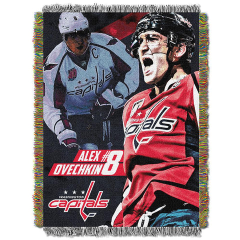 Alexander Ovechkin #8 Washington Capitals Nhl Woven Tapestry Throw (48x60)