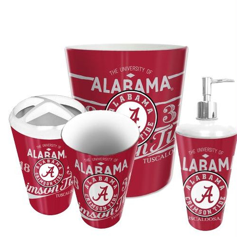 Alabama Crimson Tide Ncaa 4 Piece Bathroom Decorative Set (panel Series)