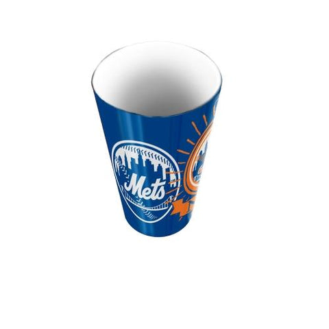New York Mets Mlb Polymer Bathroom Tumbler (ink Burst Series)
