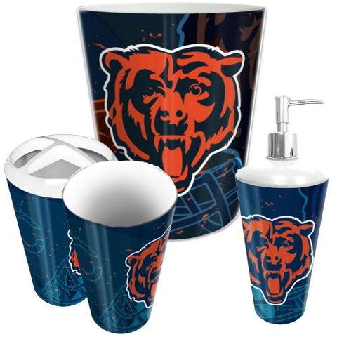 Chicago Bears Nfl 4 Piece Bathroom Decorative Set (scatter Series)