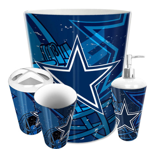 Dallas Cowboys Nfl 4 Piece Bathroom Decorative Set (scatter Series)