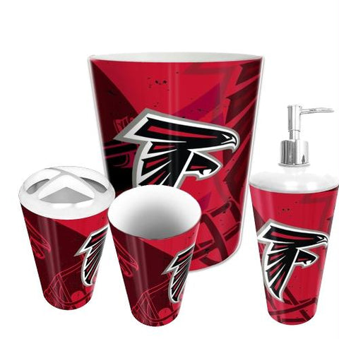 Atlanta Falcons Nfl 4 Piece Bathroom Decorative Set (scatter Series)