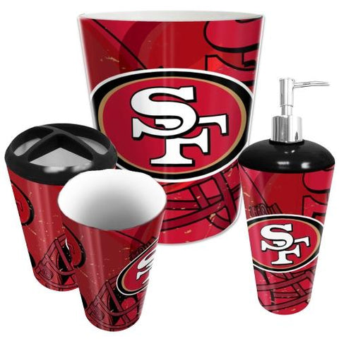 San Francisco 49ers Nfl 4 Piece Bathroom Decorative Set (scatter Series)