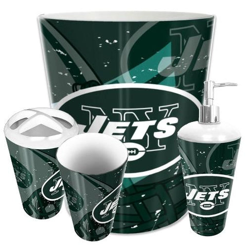 New York Jets Nfl 4 Piece Bathroom Decorative Set (scatter Series)
