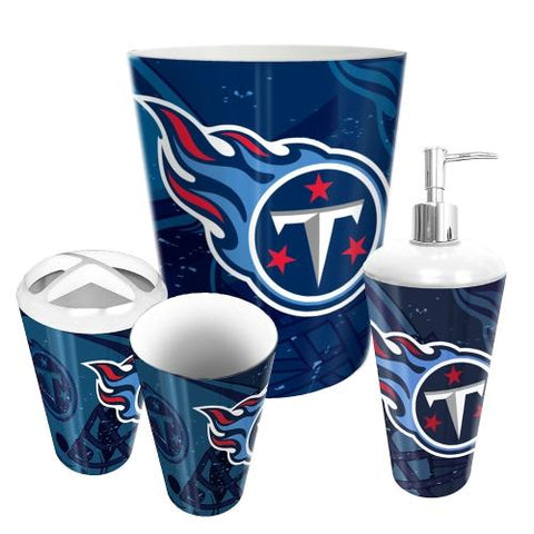Tennessee Titans Nfl 4 Piece Bathroom Decorative Set (scatter Series)