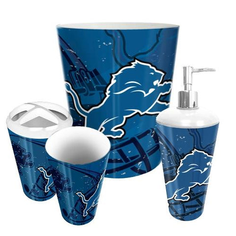Detroit Lions Nfl 4 Piece Bathroom Decorative Set (scatter Series)