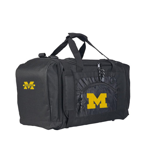 Michigan Wolverines Ncaa Roadblock Duffel Bag (black-black)