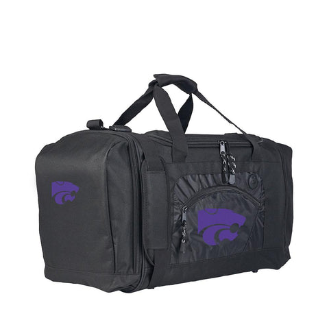 Kansas State Wildcats Ncaa Roadblock Duffel Bag (black-black)