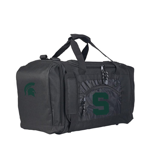 Michigan State Spartans Ncaa Roadblock Duffel Bag (black-black)
