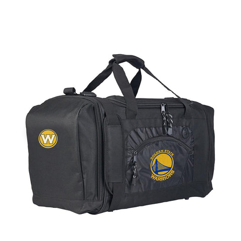 Golden State Warriors Nba Roadblock Duffel Bag (black-black)