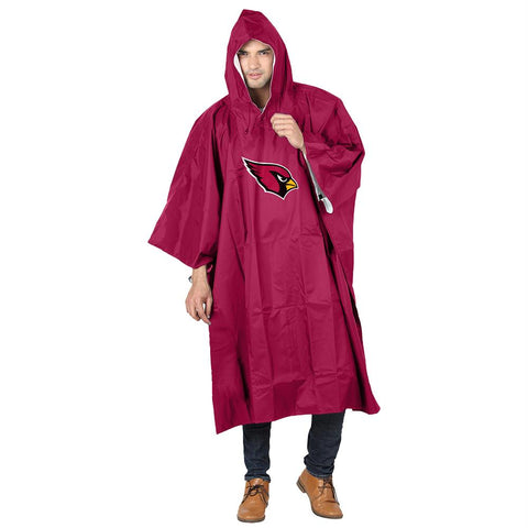 Arizona Cardinals Nfl Deluxe Poncho (red)