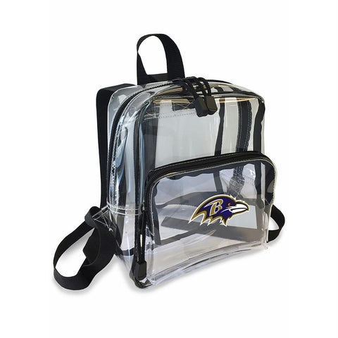 Baltimore Ravens Nfl X-ray Stadium Friendly Clear Mini-backpack