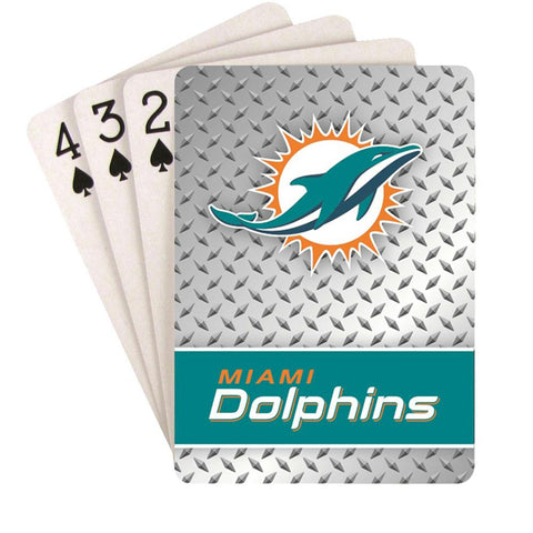 Miami Dolphins Nfl Playing Cards Diamond Design