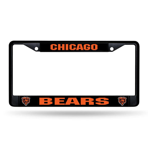 Chicago Bears Nfl Black (metal) Lincense Plate Frame