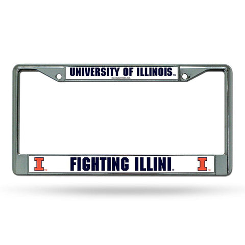 Illinois Fighting Illini Ncaa Chrome License Plate Frame