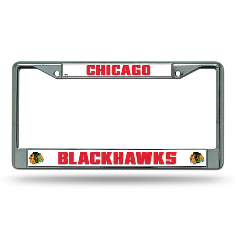 Chicago Blackhawks Nhl Chrome License Plate Frame