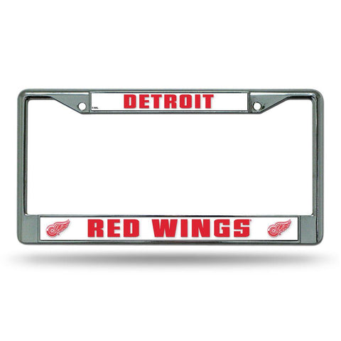 Detroit Red Wings Nhl Chrome License Plate Frame
