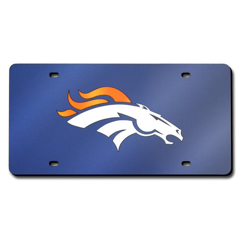 Denver Broncos Nfl Laser Cut License Plate Cover