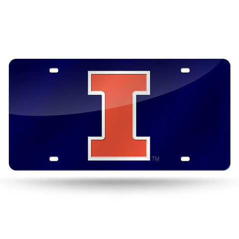 Illinois Fighting Illini Ncaa Laser Cut License Plate Tag