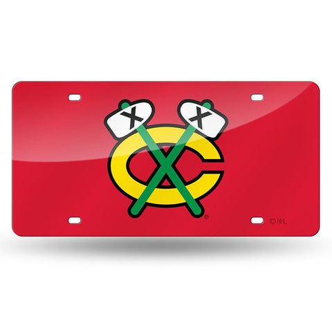 Chicago Blackhawks Nhl Laser Cut License Plate Cover
