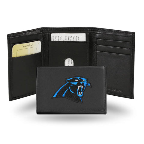 Carolina Panthers  Embroidered Trifold Wallet