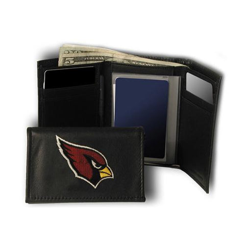 Arizona Cardinals Nfl Embroidered Trifold Wallet