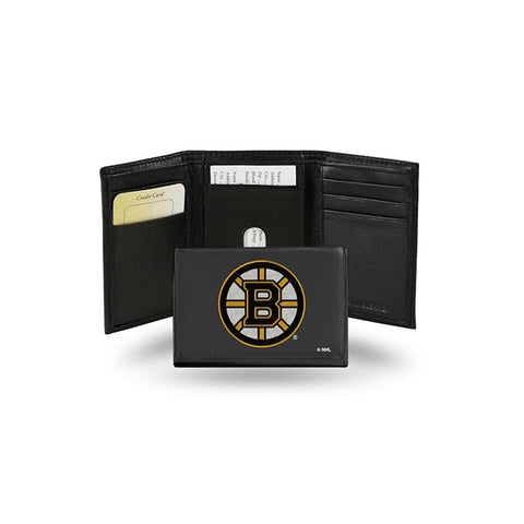 Boston Bruins Nhl Embroidered Trifold Wallet