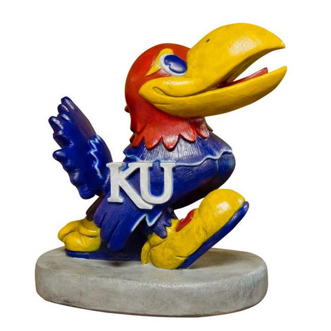 Kansas Jayhawks Ncaa Jayhawk College Mascot 17in Full Color Statue